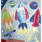 Wallies Rocket Space Big Vinyl Mural Wall Stickers