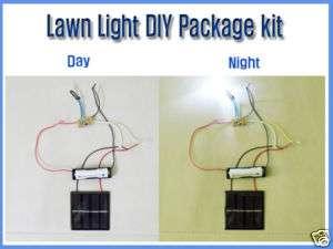 Solar Lawn Light DIY Kit, 2 LEDs