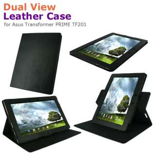 rooCASE Dual View Leather Folio Case Cover for Asus Transformer PRIME