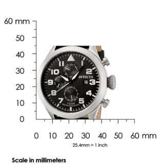 Swiss ChronoGraph Mens Black Dial Black Calf Leather Strap Date Watch