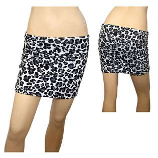 eVogues Apparel Jr Plus Size Animal Print Hip Hugger Mini Skirt at
