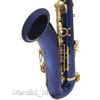 NEW STUDENT BLUE LACQUER TENOR SAXOPHONE SAX+$39 TUNER