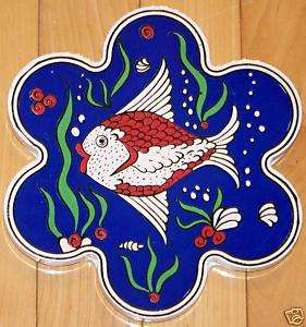 Flower Shaped Turkish Fish Ceramic Hot Plate/Tile