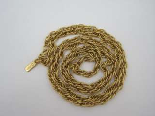 Vintage Monet Gold Tone Rope Twist Strand Necklace 27