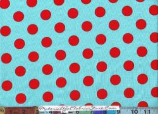 Michael Miller Fabric ~ Aqua Blue Red White 6yd 3pc group~ too cute