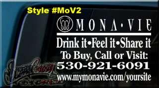 12x9 MONA VIE MONAVIE DECAL STICKER CAR WINDOW SIGN