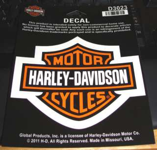 HARLEY DAVIDSON BAR & SHIELD LOGO 4 X 3 STICKER