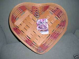 1999 Red Sweetheart Love Treasures Basket   Large Heart Shape