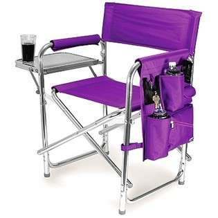 Picnic Time Sports Chair Folds w/ Table & Pockets Purple   #809 00 101