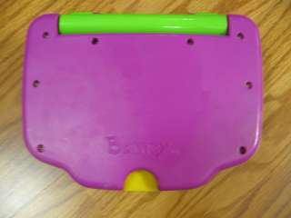 Barney learning system childrens laptop, works great