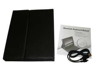 Wireless Bluetooth Keyboard Deluxe Leather Case for iPad 2 USA Seller