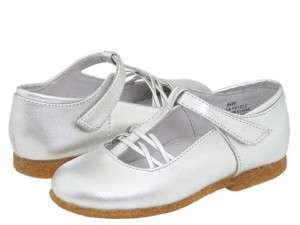 Jumping Jacks Susie Sliver Mary Janes Girls shoes.