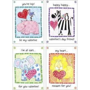 Hip Zoo Pals   16 Colorful & Fun Kids Valentines By Gina B
