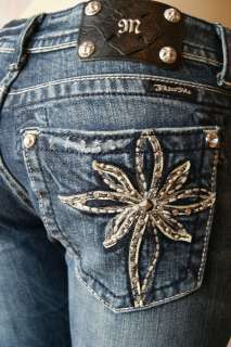 MISS ME JEANS CRYSTAL FLOWER BOOT CUT JP5363B3 MK 59