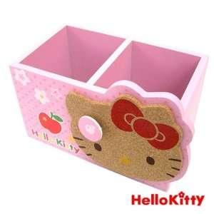 Hello Kitty Face Pencil/Remote Holder Pink 6.5x3.5x3.5