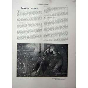 1909 ART JOURNAL MAN WOMAN ROMANCE LOVE AMONG RUINS Home & Kitchen