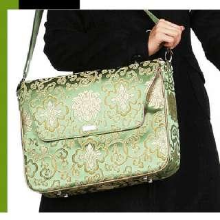 Abbi newyork Womens Shoulder Messenger laptop Bag Floral Design Green