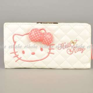 Hello Kitty Long Wallet Change Coin Purse White EIGEJW