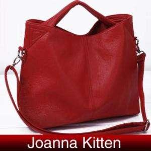 Women PU Leather Shoulder Bag Handbag Tote Hobo Red