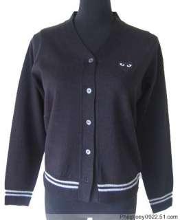 COMME des GARCONS womens Black V neck Sweater SZ/S