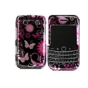 Blackberry bold 9700 / Onyx Crystal Case Pink Butterfly