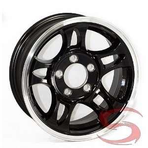 Black Machined Aluminum Bullet Trailer Wheel 5x4.50 Bolt Pattern