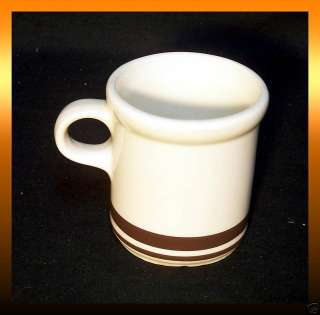 McCoy Pottery COFFEE MUG CUP Ivory Brown Stripe #1412