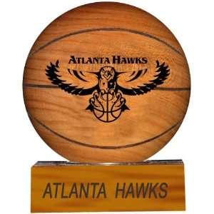 Atlanta Hawks NBA Laser Engraved S Hard Wood Basketball