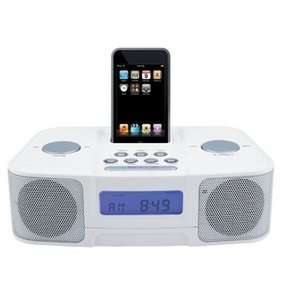 Naxa NI 3103 Digital Alarm Clock Radio with Dock for iPod