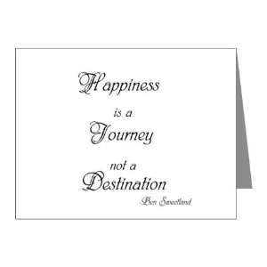 Happiness Is a Journey Not a Destination Quote Note Card (Set of 10) 4