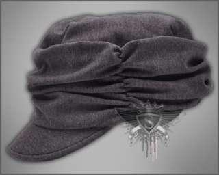 AM1091 Gray Mix White Punk Rock Cadet Military Hat Cap Manful