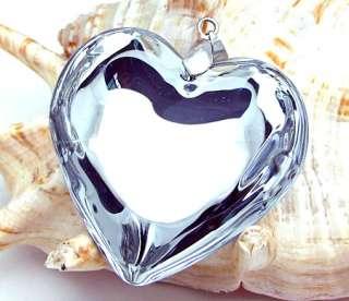 Lampwork Murano glass Heart Pendant Necklace p0206
