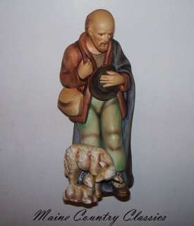 Vintage SHEPHERD w/SHEEP HUMMEL Nativity Figure TMK 2