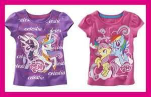 NEW My Little Pony Exclusive Canterlot Graphic T Shirt PINK PURPLE 2T
