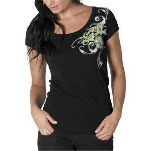 Metal Mulisha Womens Crossroads T Shirt   Small/Black