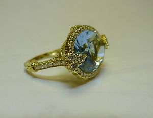 JUDITH RIPKA 18k. Yellow Gold & Diamond Monoco Ring