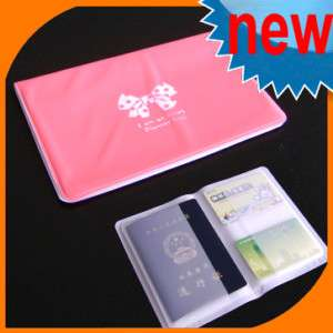 Travel Passport ID Credit Card Case Sets Holder Cover