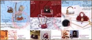 Japanese Beading Craft Pattern Book 3D Bead Bag Purse Shoe Charm