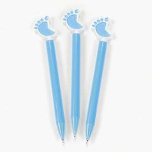 12 Blue Baby Feet Pens   Kids Stationery & Pens: Health