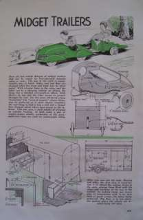 to Build PEDAL CAR TEARDROP TRAILER & COVERED WAGON Artcle Plan