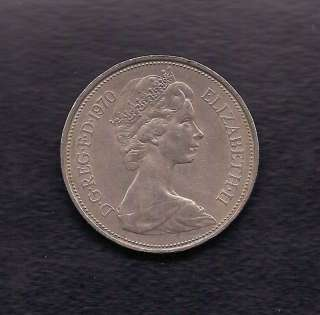 UK Great Britain 10 New Pence 1970 Coin KM # 912