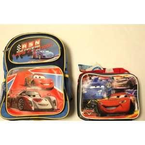 Disney Cars Ii Medium Backpack + Lunch Bag SET   3