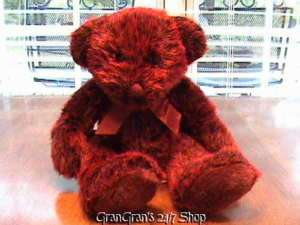 RUSS ROMANOFF RED HEATHER PLUSH TEDDY BEAR #4596 15