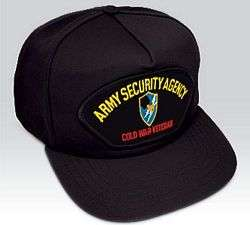 US ARMY US ARMY ARMY SECURITY AGENCY COLD WAR VETERAN BALLCAP CAP HAT