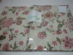 NEW STYLE HAPPY PLACEMATS SET OF 4 FLORAL BEIGE NIP