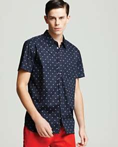 MARC BY MARC JACOBS Heart and Dot Short Sleeve Sport Shirt   Classic