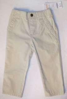 NWT 6 12 M Gymboree YACHT CLUB Tan Khaki Woven Pants