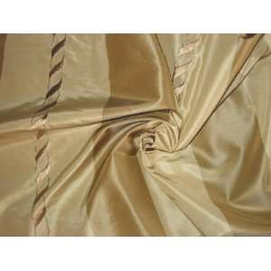 THE LOST CHORD COLLECTION   Embroidered Silk Taffeta   Taupe and Beige