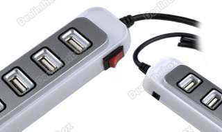 Port USB 2.0 HUB High Speed Laptop PC W/ ON/OF Switc