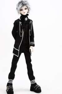 510# Prince Black Suit/Outfit 1/4 MSD BJD Boy Dollfie